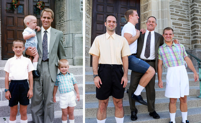 Three Brothers + Dad Make a Calendar of Recreated Photos for Mom