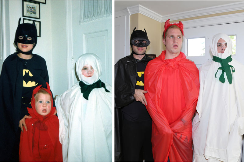 Three Brothers and their Dad Make a Calendar of Recreated Photos for Mom (7)