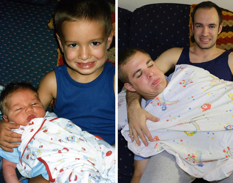 Three Brothers and their Dad Make a Calendar of Recreated Photos for Mom (9)