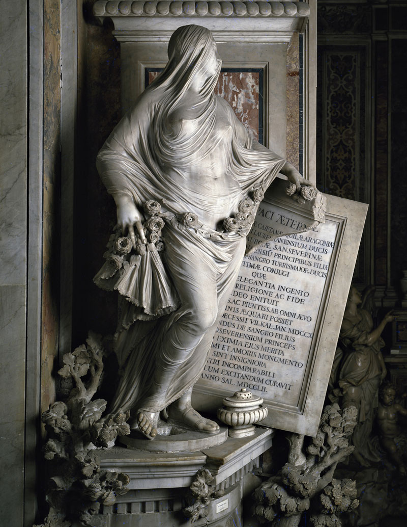 Veiled Figures Carved Out of Marble by Antonio Corradini