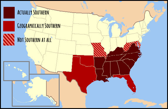 Why don't you know where The South is?