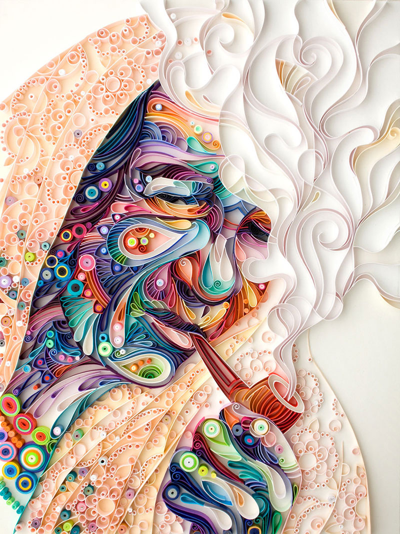 Yulia Brodskaya Rolls Strips of Paper Into Works of Art