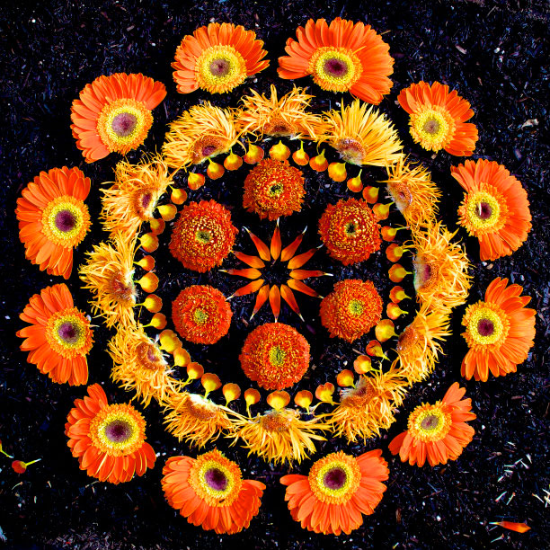 15 Flower Mandalas by Kathy Klein