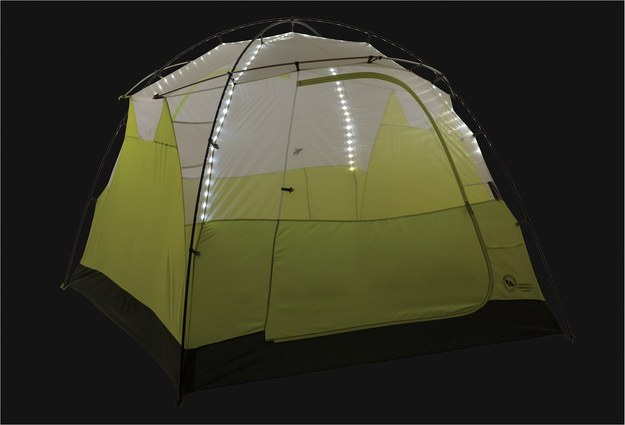 A tent with built-in twinkle lights.