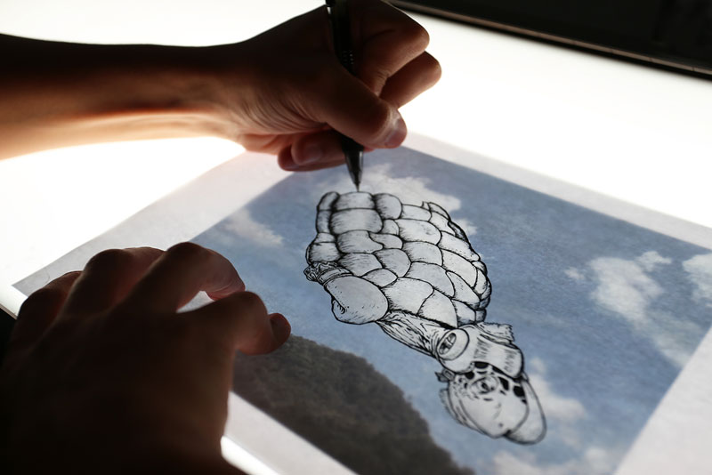 drawing on top of clouds by Martín Feijoó (2)