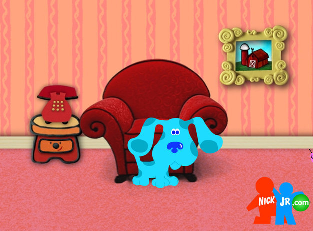 Blue, the title character from Nick Jr.'s Blue's Clues, is one adorable doggie.