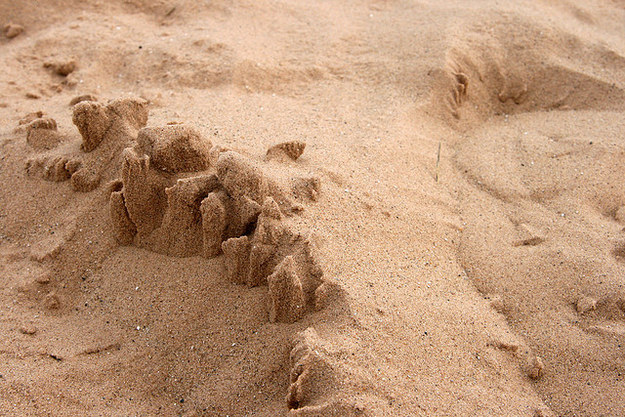 Build sand castles on the beach in Clacton-on-Sea