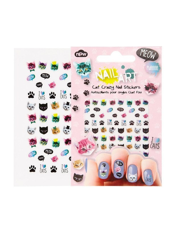 Cat-themed nail stickers, so your claws can look as cute as theirs.
