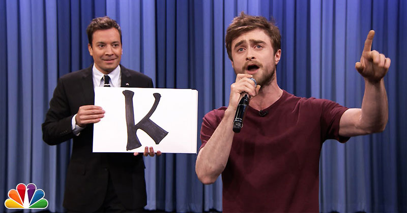 Daniel Radcliffe Raps 'Alphabet Aerobics' on Jimmy Fallon
