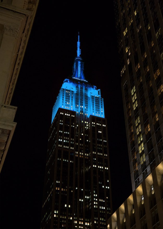 Monuments Around The Globe Are Turning Blue For Autism Awareness