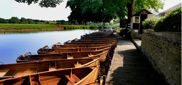Hire a boat in Dedham and take a leisurely row along the river Stour.