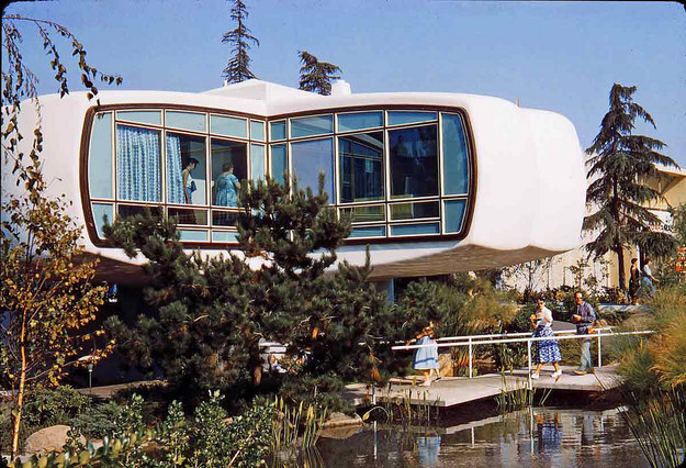 In 1957, the House of the Future had microwaves, picture phones, and intercoms on display.