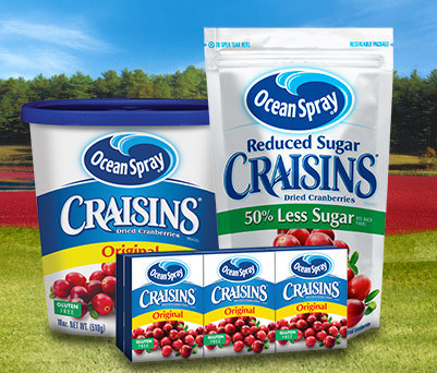In case you're wondering — in 2013, Ocean Spray Craisins were named Disneyland's official fruit snack.