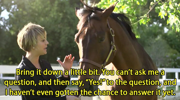 Kaley Cuoco-Sweeting got really sassy with her horse, Thor.