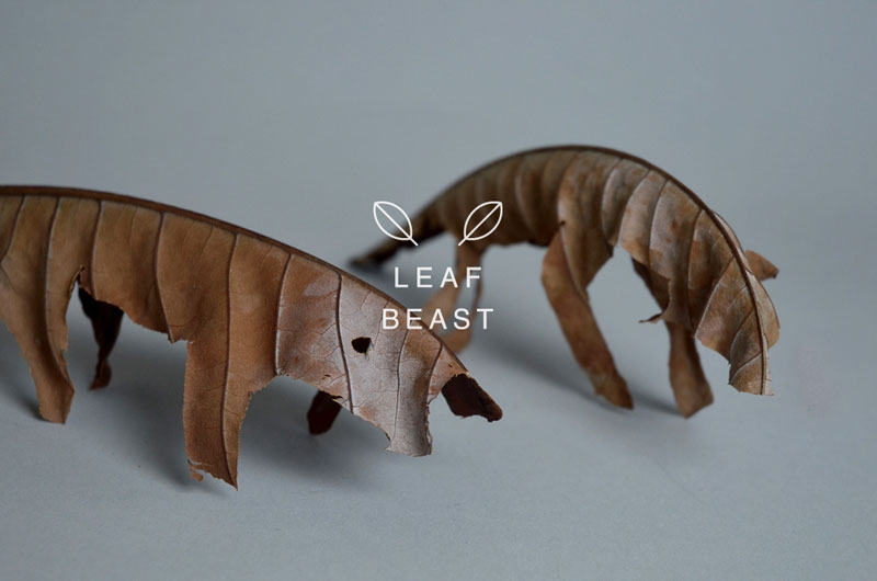 Leaf Beasts: Animal Sculptures Made from Dried Magnolia Leaves