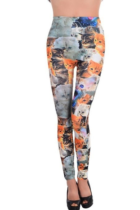 Or totally forget about being subtle and wear these cat-tastic leggings.