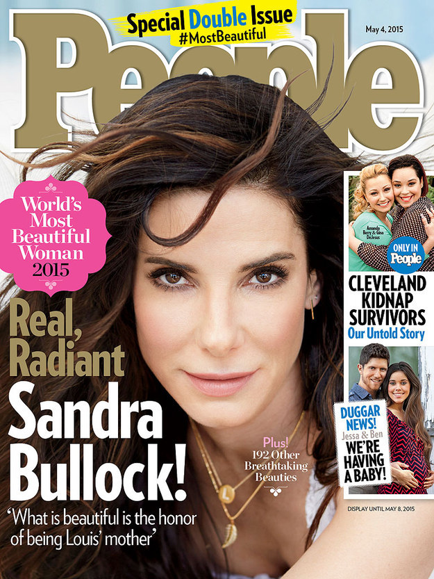 """People Magazine just released its 2015 """"Most Beautiful"""" issue, starring Sandra Bullock."""