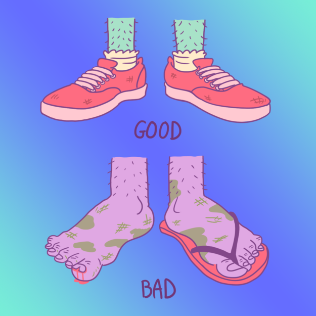 Proper footwear is key.