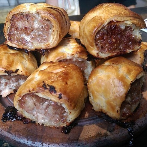 Sausage rolls at The Royal Albert, New Cross