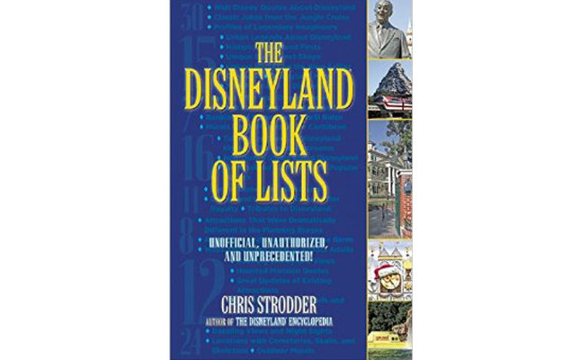 The Disneyland Book of Lists (Santa Monica Press) is out on April 14.