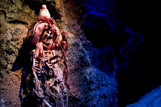 The urban legend that real human bones are on display in Pirates of the Caribbean isn't totally false — the attraction opened with a few bones from the UCLA Medical Center, though they have since been removed.