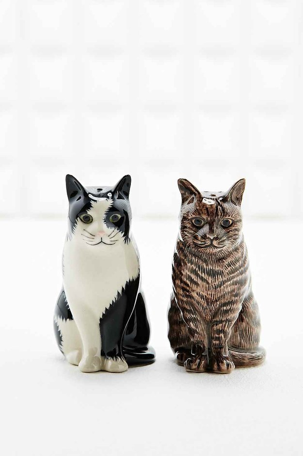 These cat-shaped salt and pepper shakers will make any dinner party a little bit more cute.