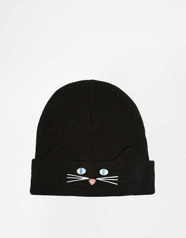 This beanie, with a cat face on the turn up.