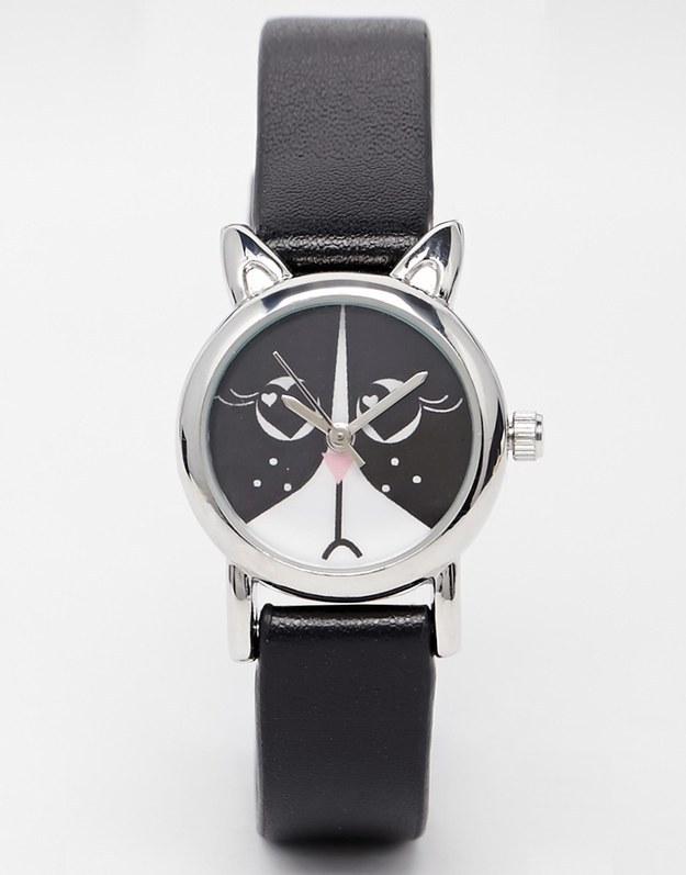 This subtle watch that can add a little splash of cat to any outfit.