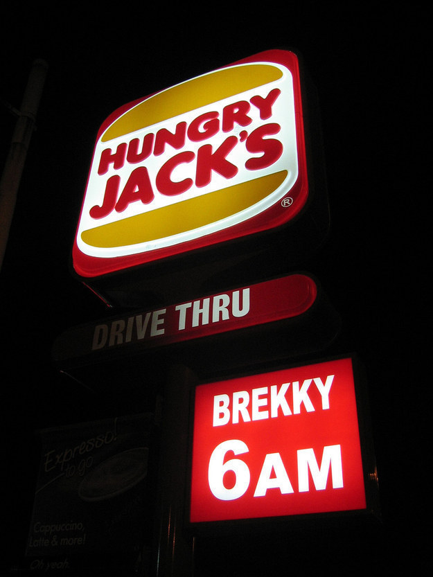 """Why do you call Burger King """"Hungry Jack's""""?"""