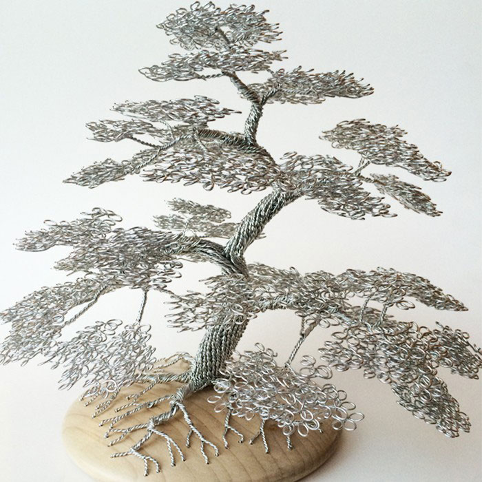 wire tree sculptures by clive maddison totally nailed it rh totallynailedit com Bonsai Shapes Bonsai Copper Wire