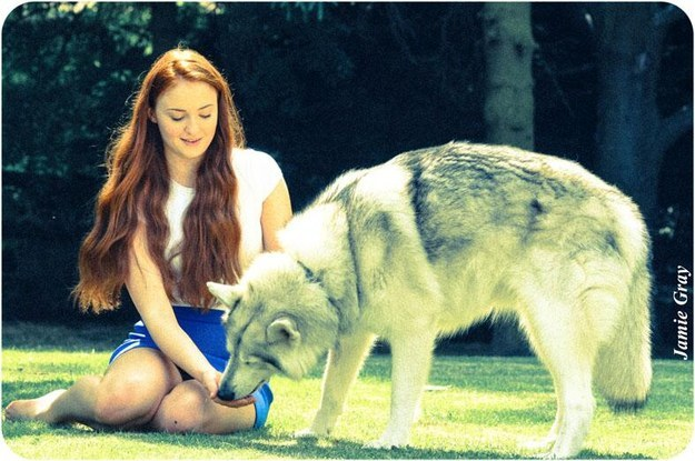 But we CAN marvel over the happy things in this world, like how BEAUTIFUL it is that Sophie Turner (who plays Sansa Stark) adopted Zunni, the dog who played her direwolf (Lady.)