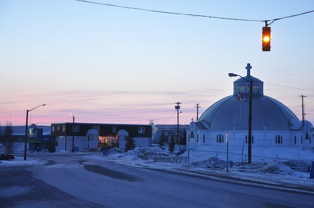By 12:30 a.m. Inuvik is quiet, but still sunny.