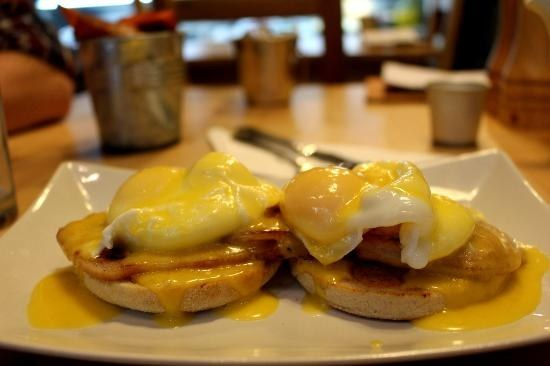 Eggs Benedict at Hepworth's Deli