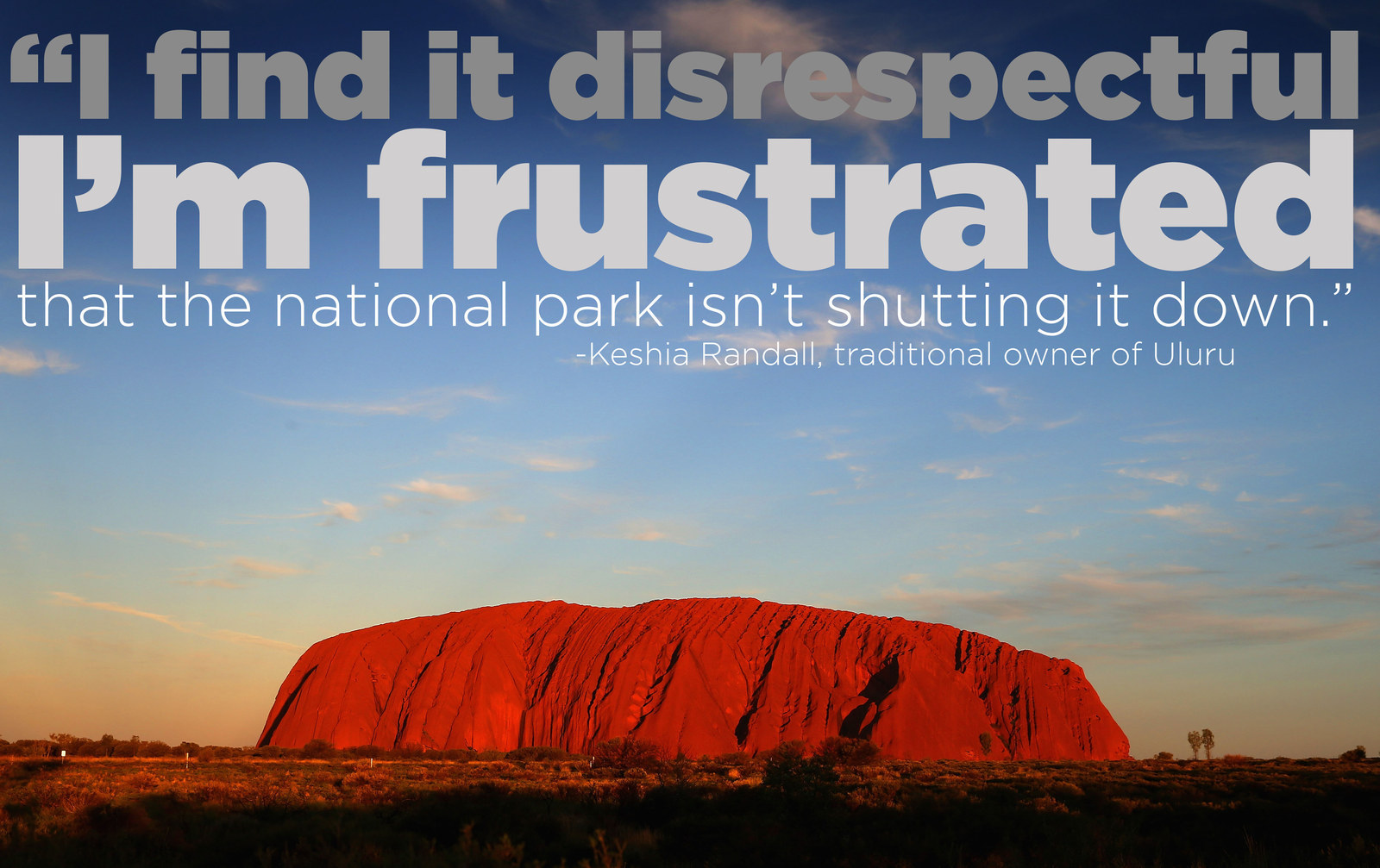 Here's Why Aboriginal People Don't Want You To Climb Uluru
