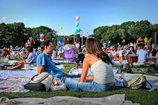 Listen to a free concert in the park during the summer concert series.