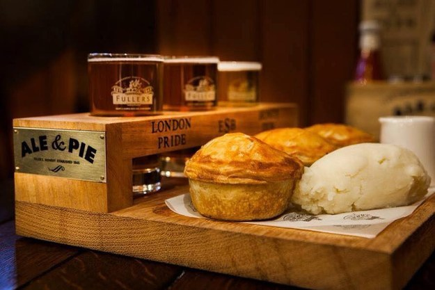Pie & Ale Tasting Board at The Old Joint Stock