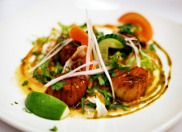 Tandoori scallops at Namada, Southfields