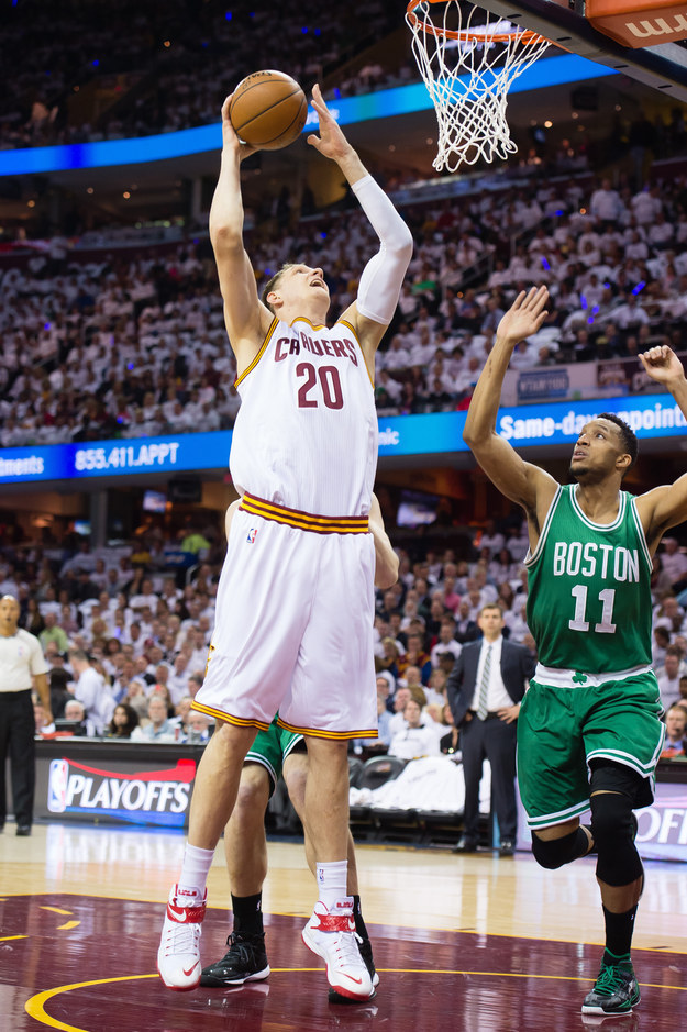 Timofey Mozgov was a Knick for less than one season before he was traded to Denver.