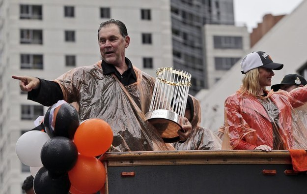 Bruce Bochy: One of 10 managers to ever win three World Series; wears a size 8 1/4 in hats.