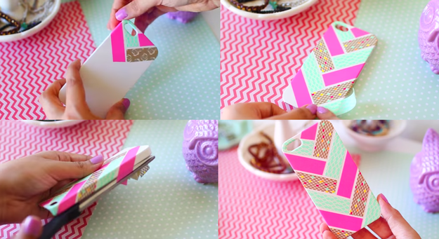Cute things up with decorative tape.
