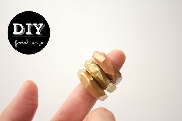 Cool Faceted Rings