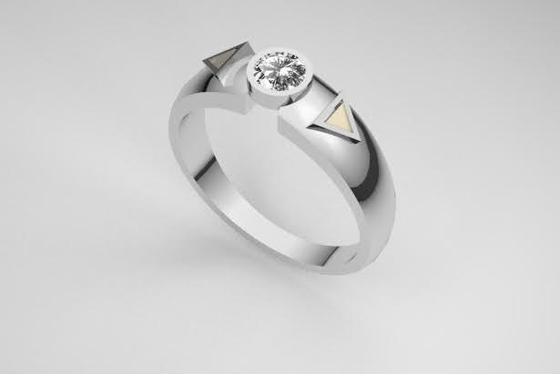 Mike worked with London-based jeweler Ingle & Rhode to create the ring as a surprise for Melita.