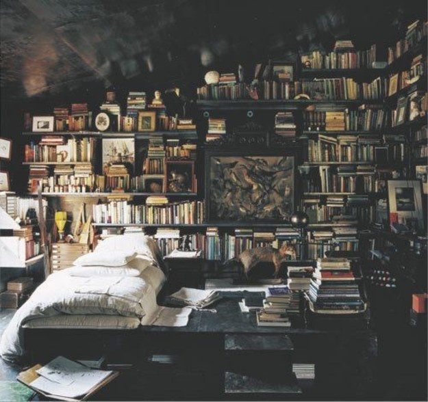 This bedroom that's the perfect place to curl up with a cup of tea and a good book.