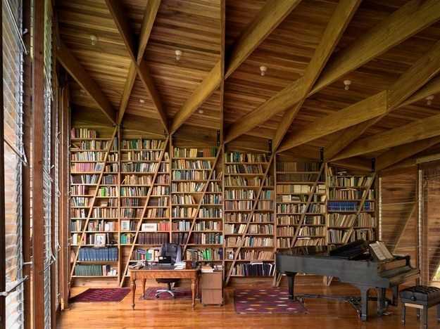 And this room is a gorgeous space for both literature and music.