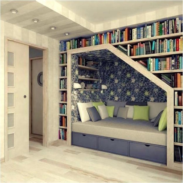 Or just curl up in this book nook and never leave.