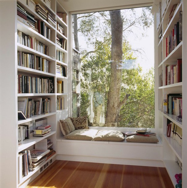 Or you could read by natural light all day here.