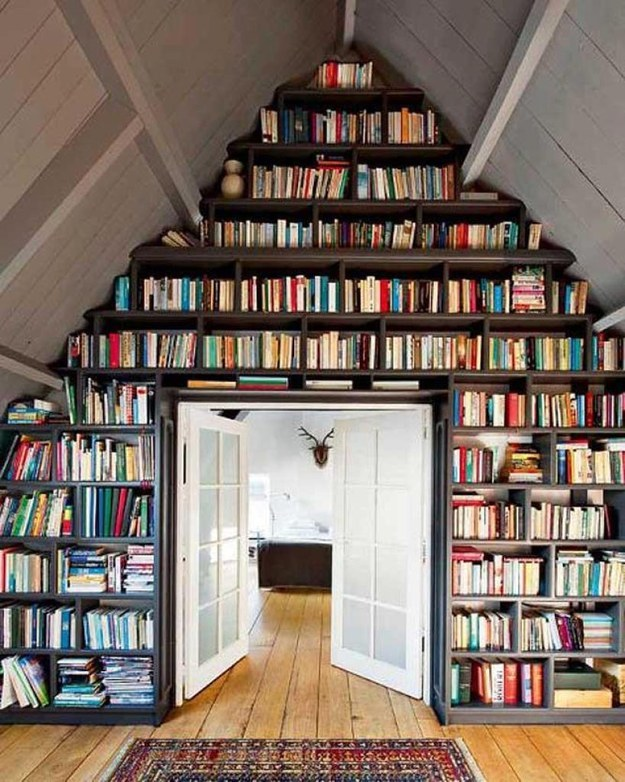 Even an attic could be a great room to read in.