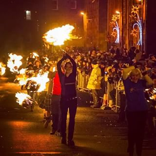 There's an amazing fire festival at Hogmanay.