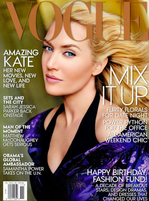 And in , Vogue airbrushed their cover photo of Winslet so heavily that she was barely recognizable.